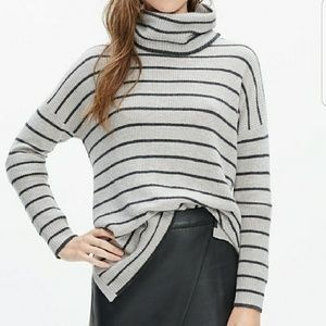 Madewell Striped Cowl Neck